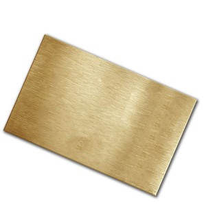 C2600 polished brass sheet